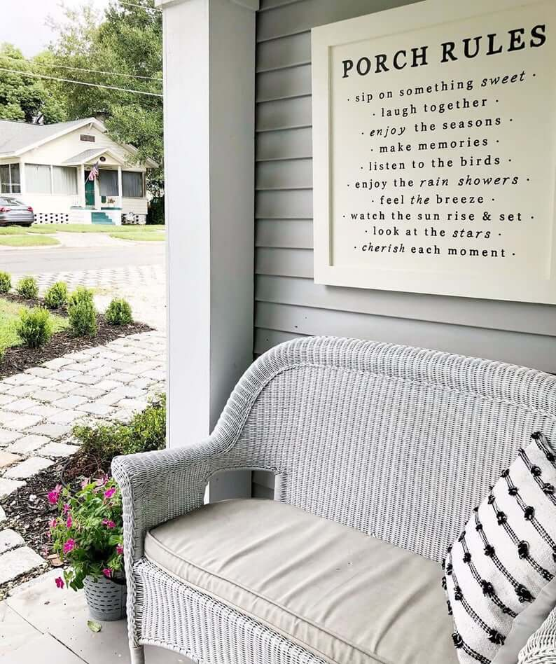 Porch Rules Oversized Wall Sign