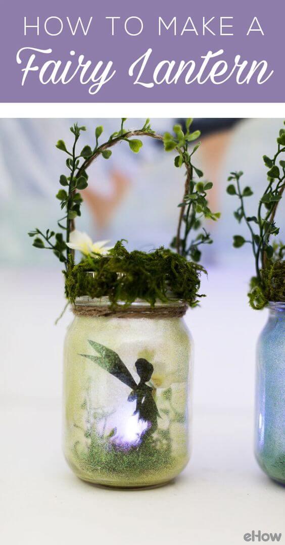 DIY Woodland Fairy Silhouette Lantern