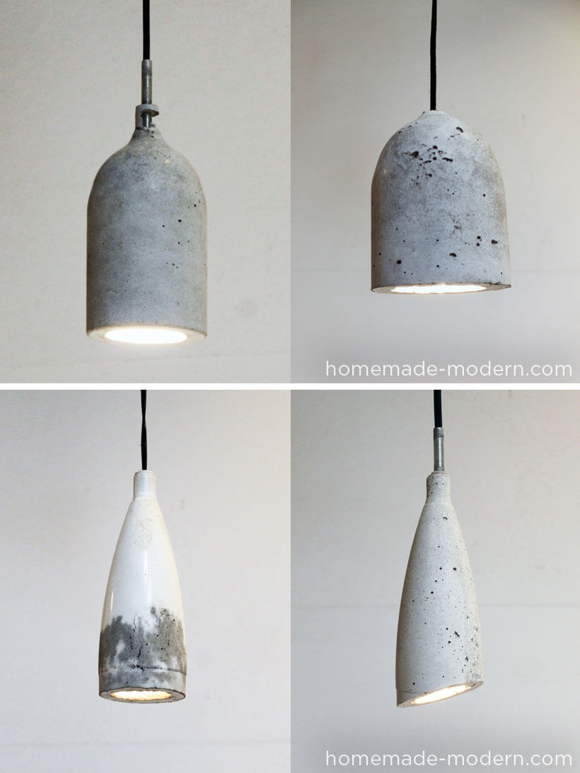 Sleek and Urban Stone Lampshade