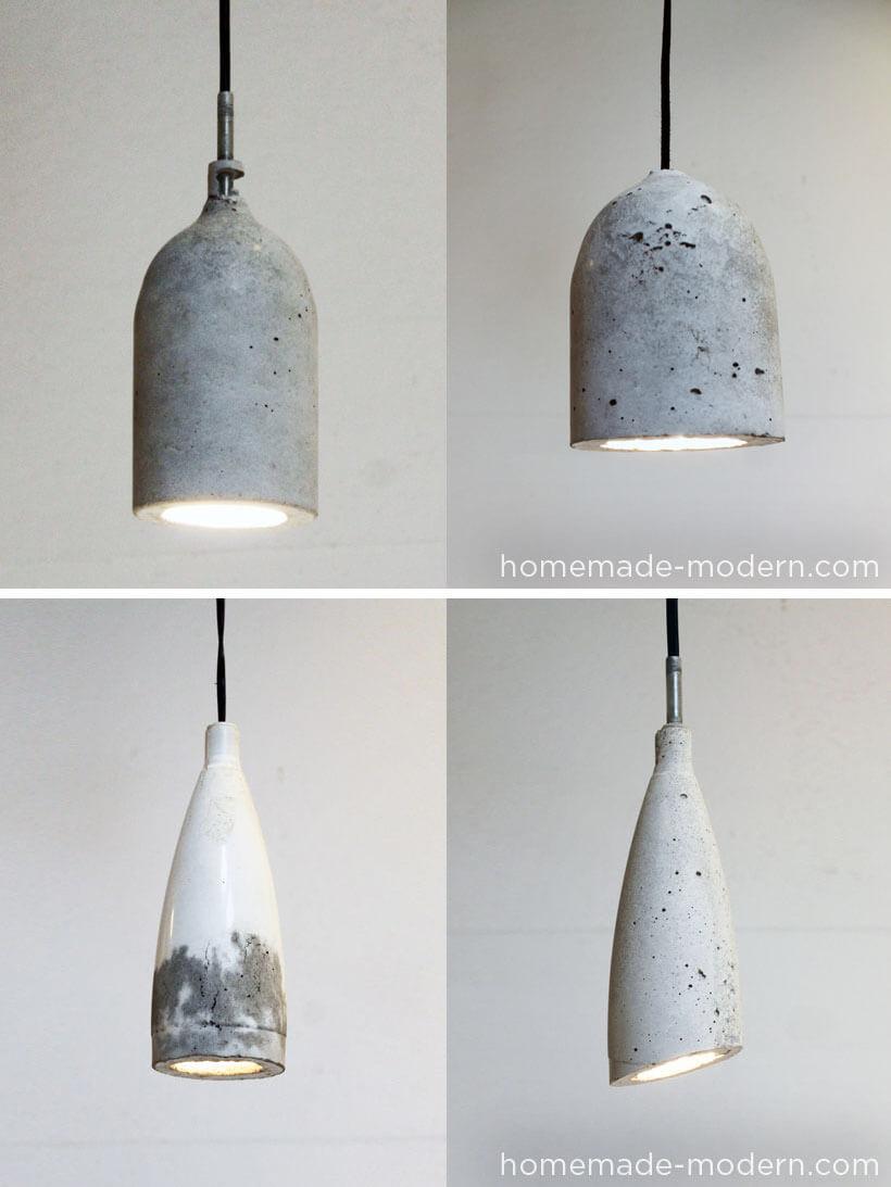 Sleek and Urban Stone Lampshade