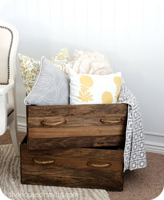 Black Forest Wooden Storage Crates
