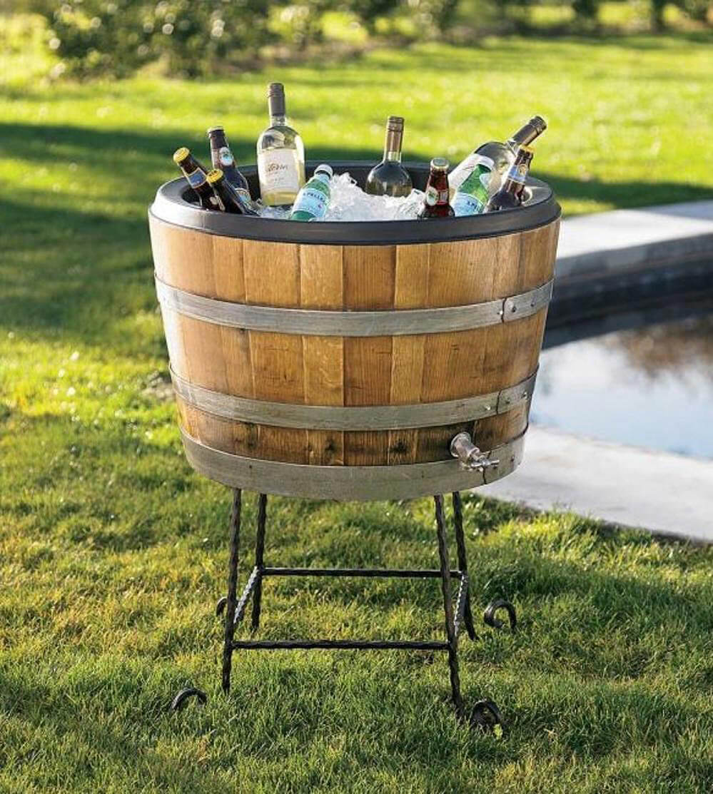 Summertime Wine Barrel Ice Box
