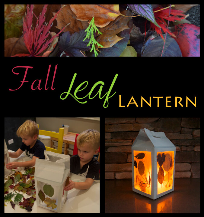 Milk Carton Fall Leaf Lantern