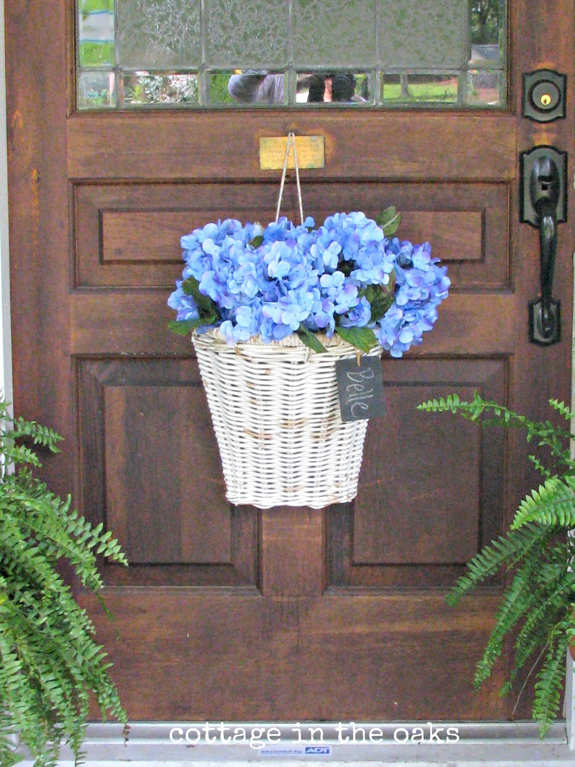 Wicker Door Hanger Flower Basket