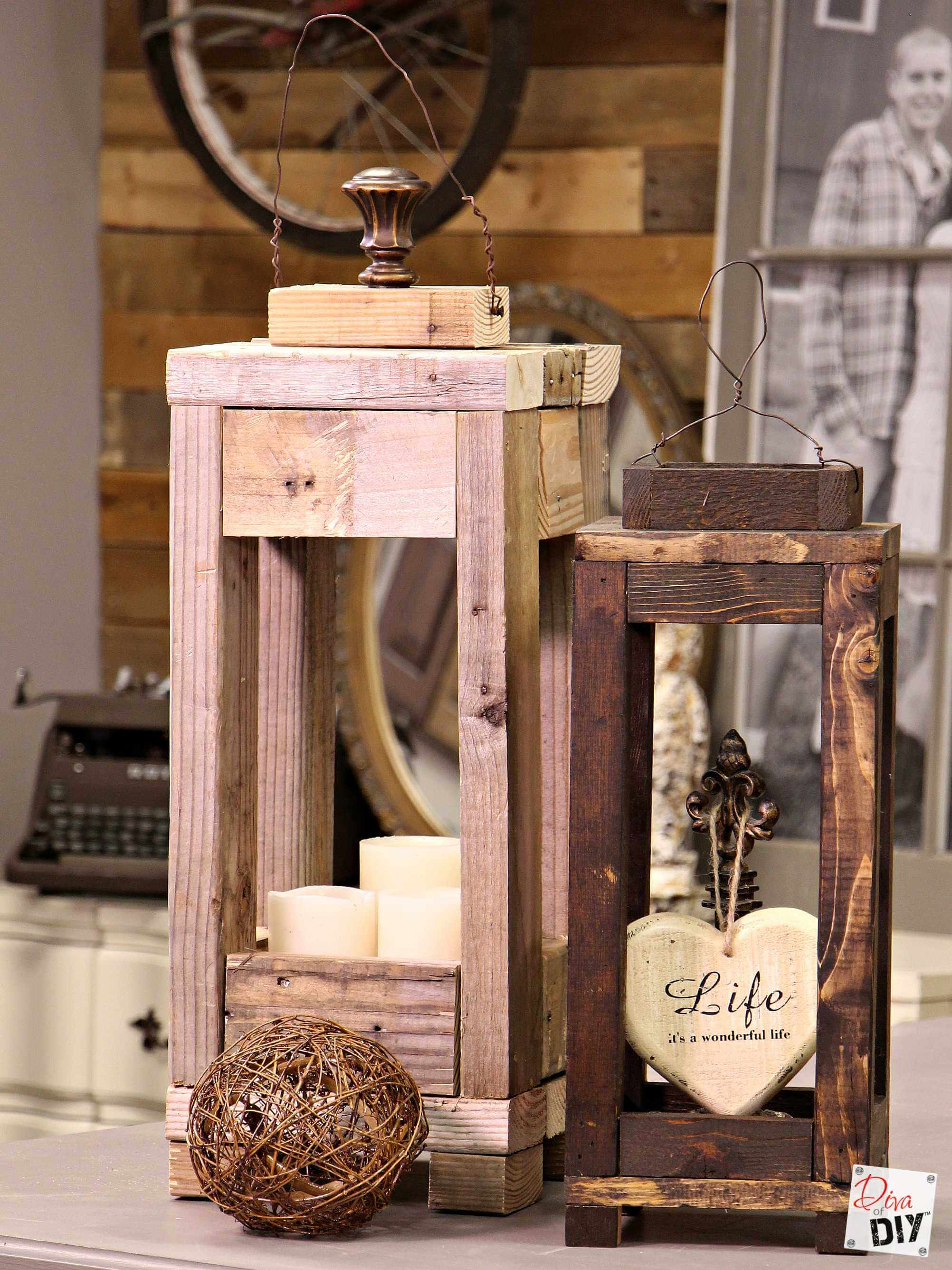 Recycled Scrap Wood Candle Display