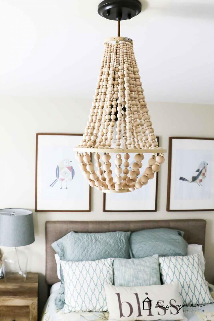 Wonderful Wooded Bobbles Chandelier Lampshade Part 27
