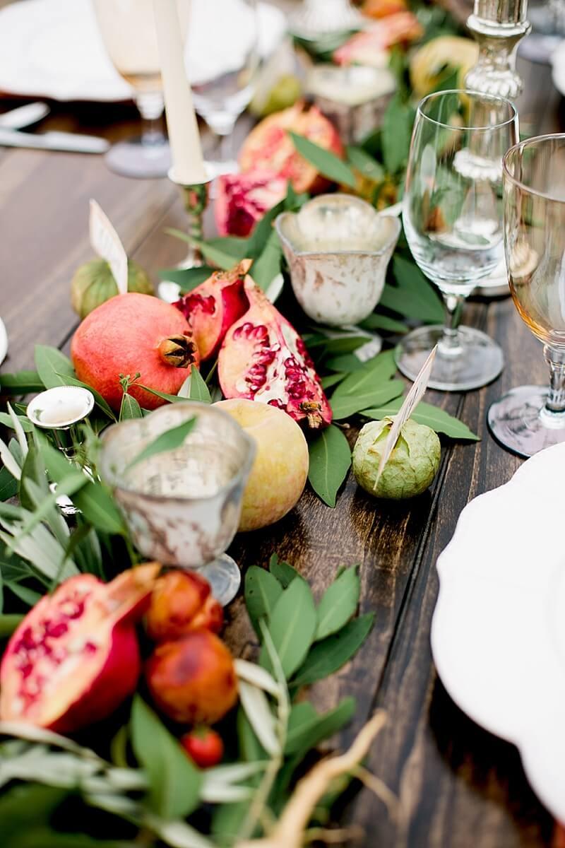 Garden of Eden Pomegranate Foliage Table Decor