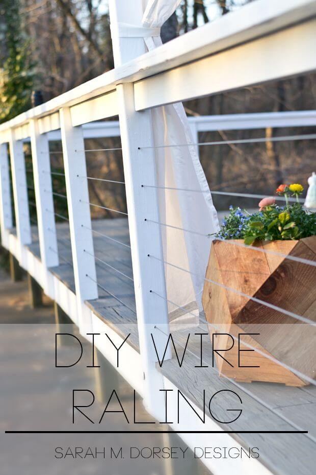 Yard Yacht DIY Wire Railing