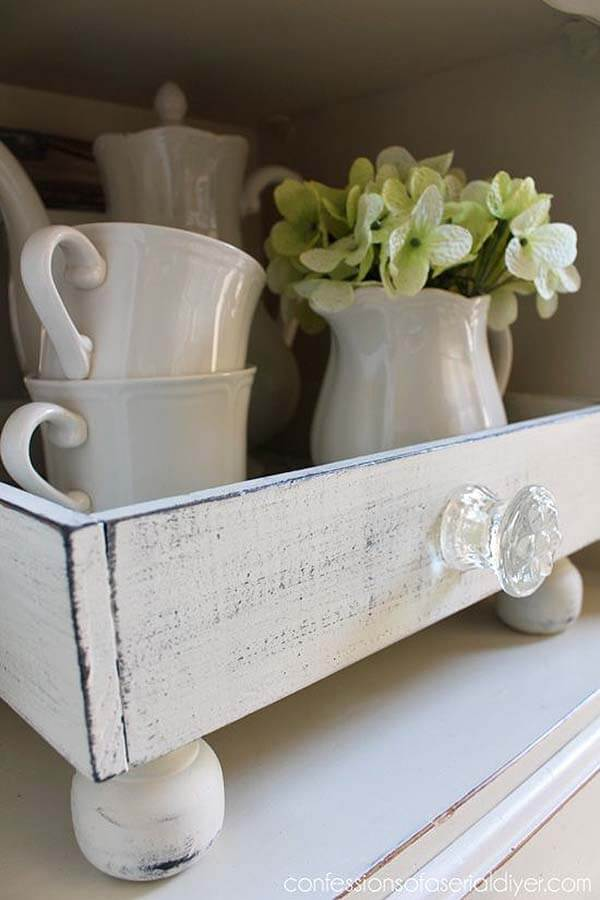 Freestanding Kitchen Drawer Dish Holder