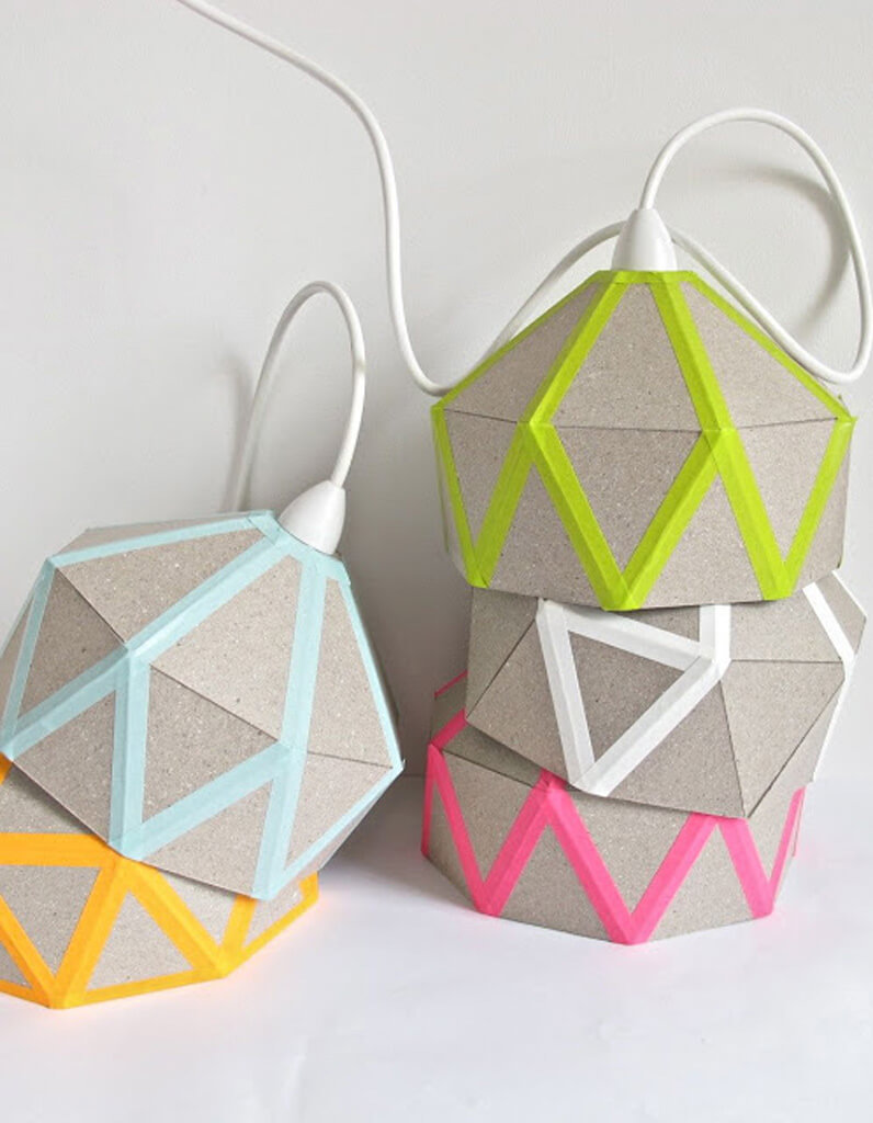 Geometric Fun Patio Style Lantern Lampshades