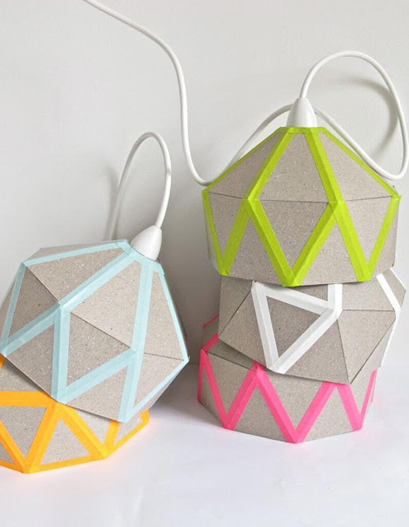 Geometric Fun Patio Style Lantern Lampshades
