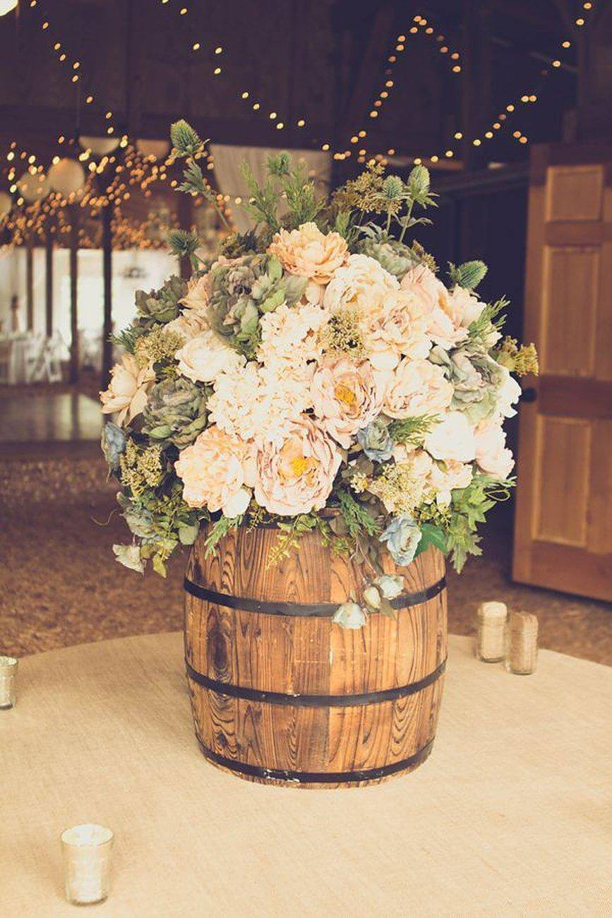 Country Ball Wine Barrel Vase