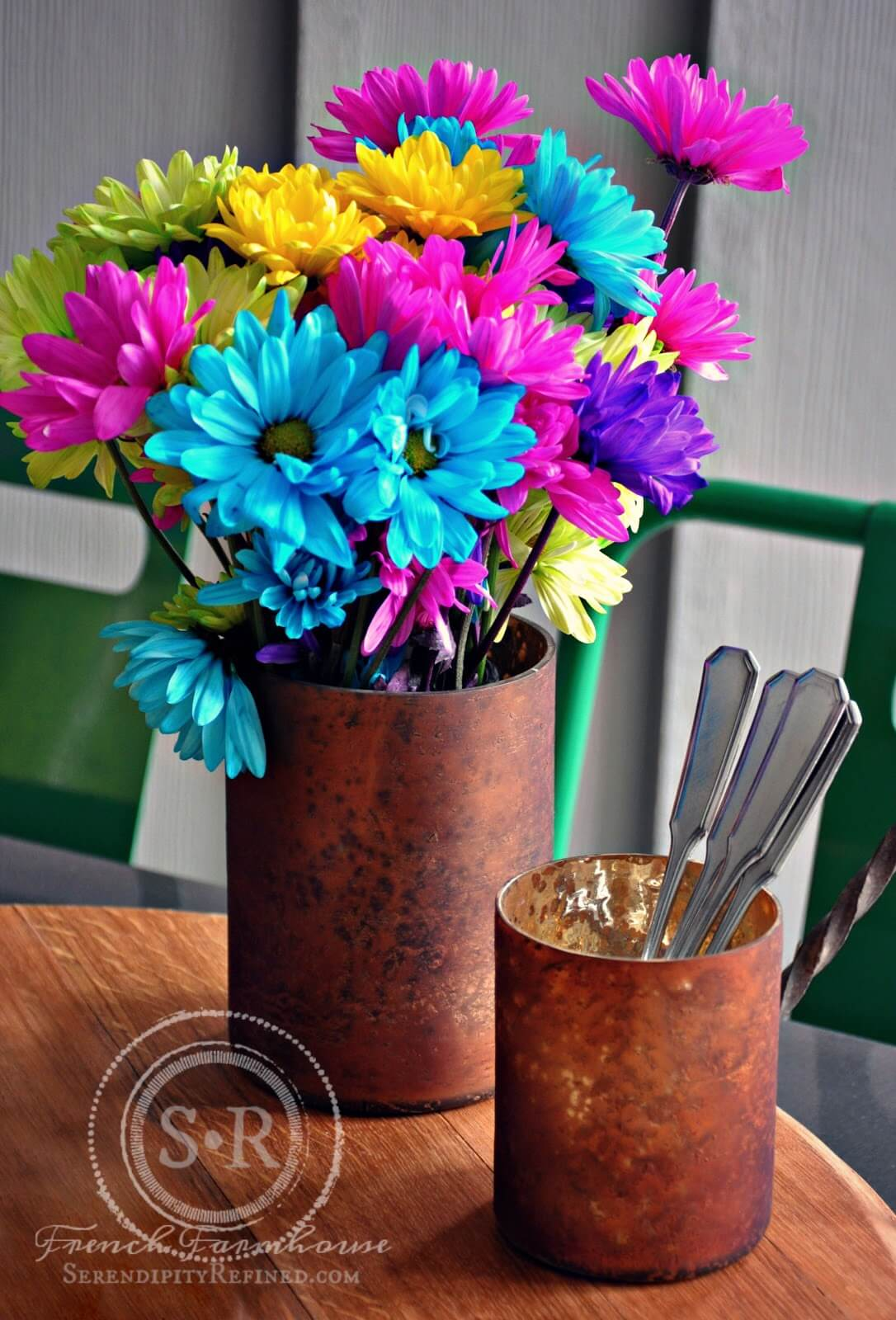 Recycled Copper Kitchen Implement Porch Decor