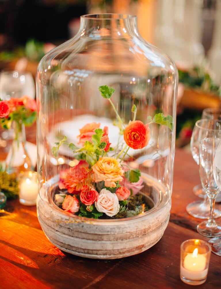 Hurricane Vase Mini Rose Gardens