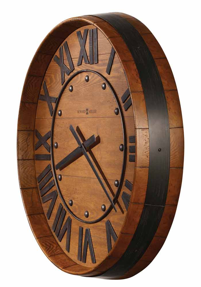 Vino Time Rustic Barrel Clock