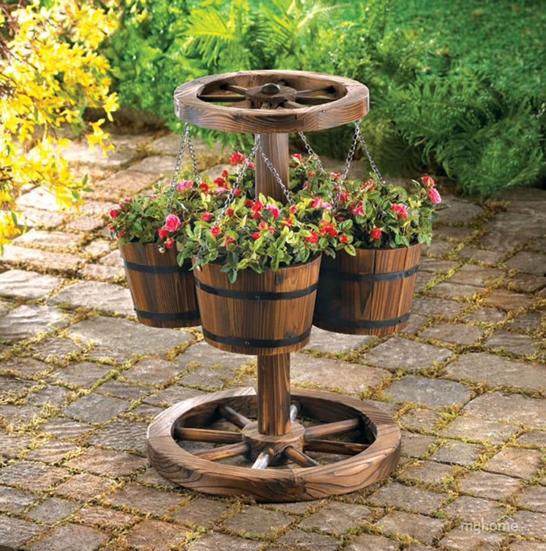 Prairie Wheel Suspended Barrel Garden