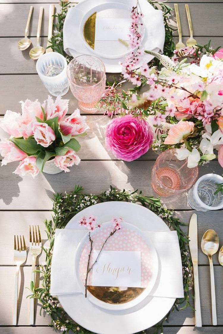 Delightfully Elegant Cherry Blossom Infused Flower Arrangements