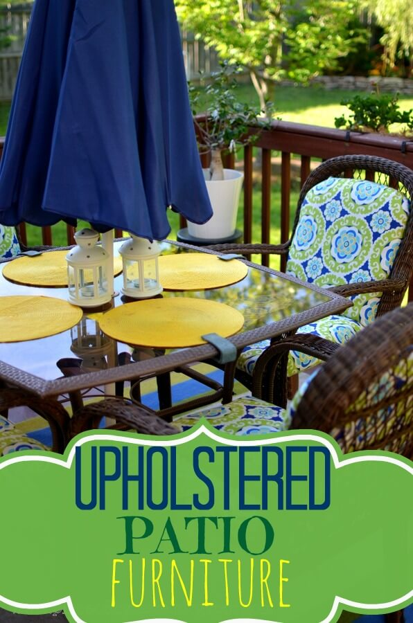 Uptown Downtown DIY Patio Upholstery