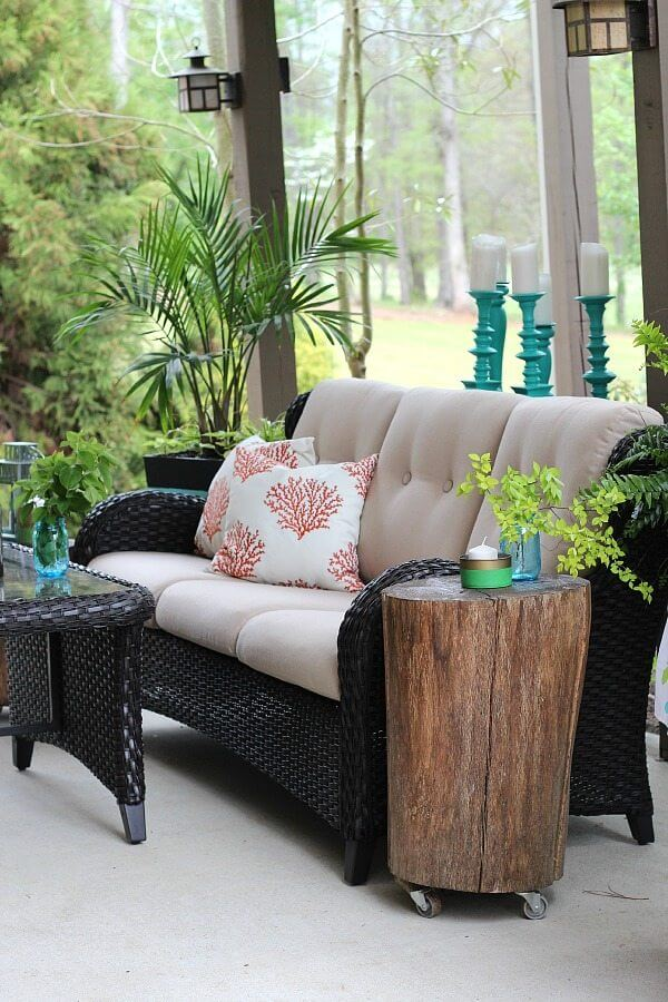 Updated Wicker Summer Porch Decor Ideas