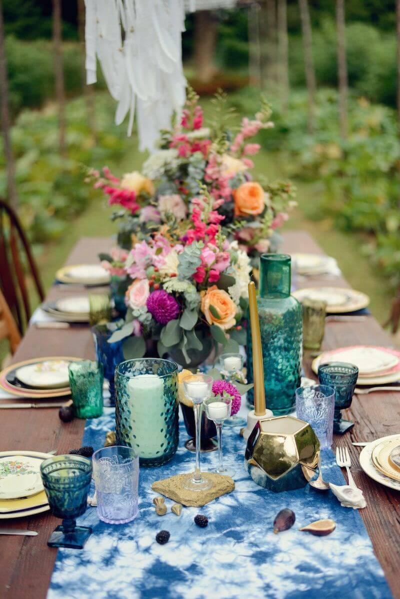 Abundant Bouquets with Eucalyptus Table Decor