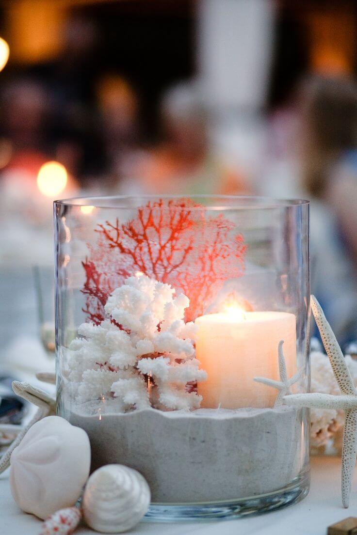 Illumined Coral Garden Vases