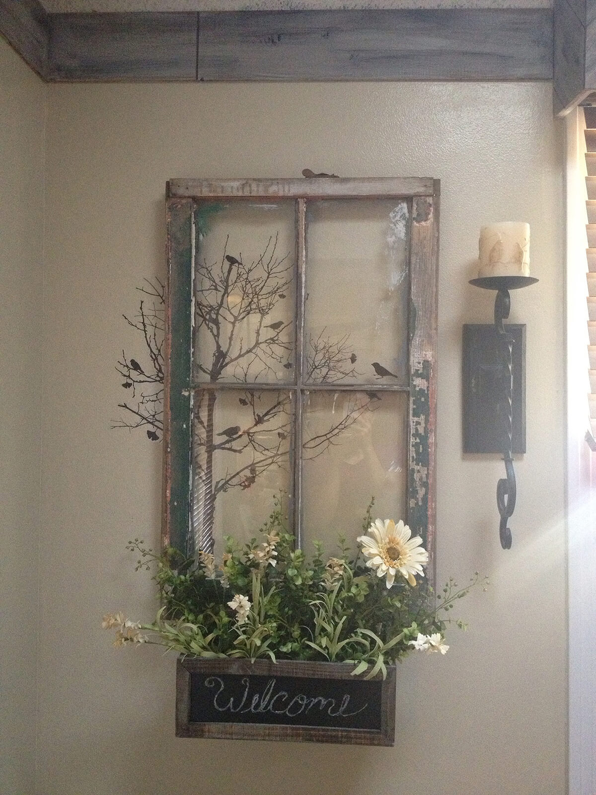 Window Wall Art : Best rustic farmhouse porch decor ideas and designs for