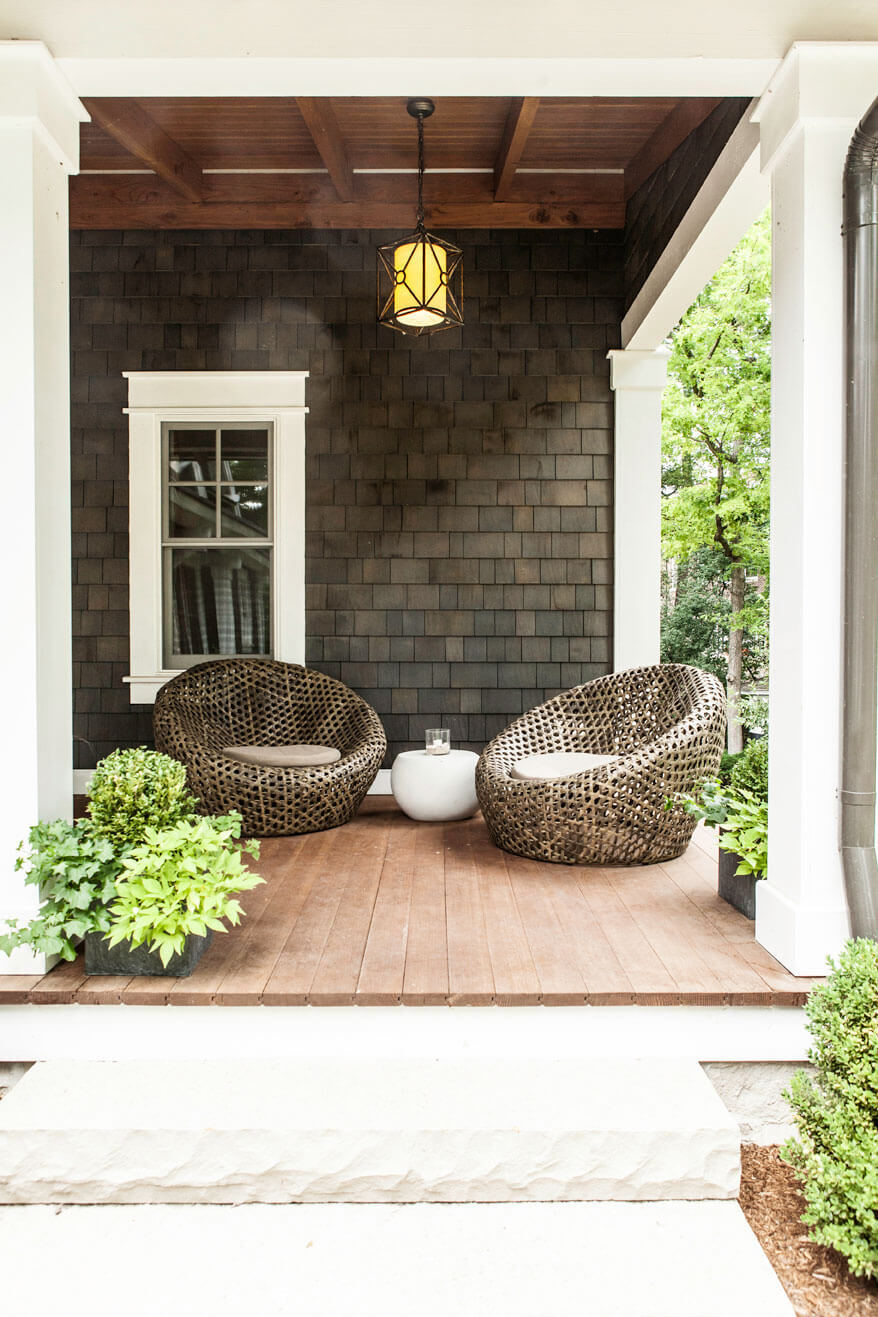 Modern Zen Porch Seating Area