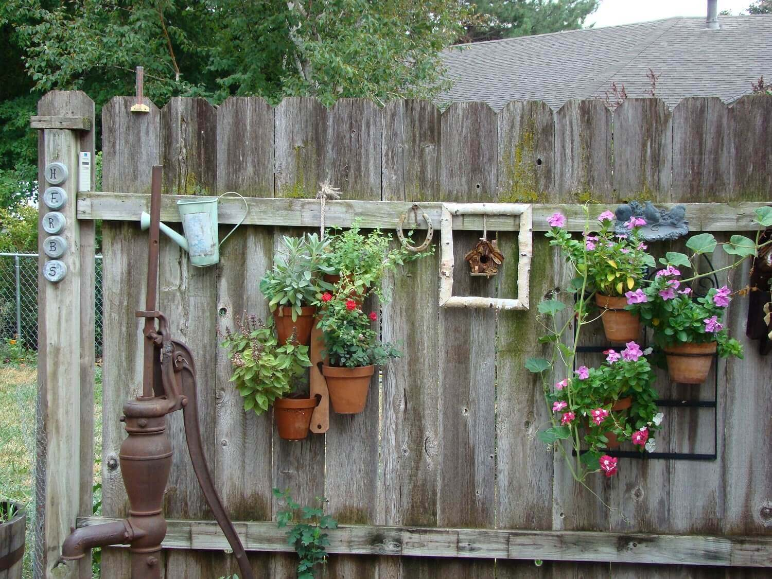 Ordinaire Cottage Style Hanging Fence Planters