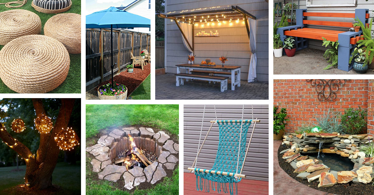 42 Best DIY Backyard Projects (Ideas and Designs) for 2017 on Outdoor Patio Ideas Diy id=81366