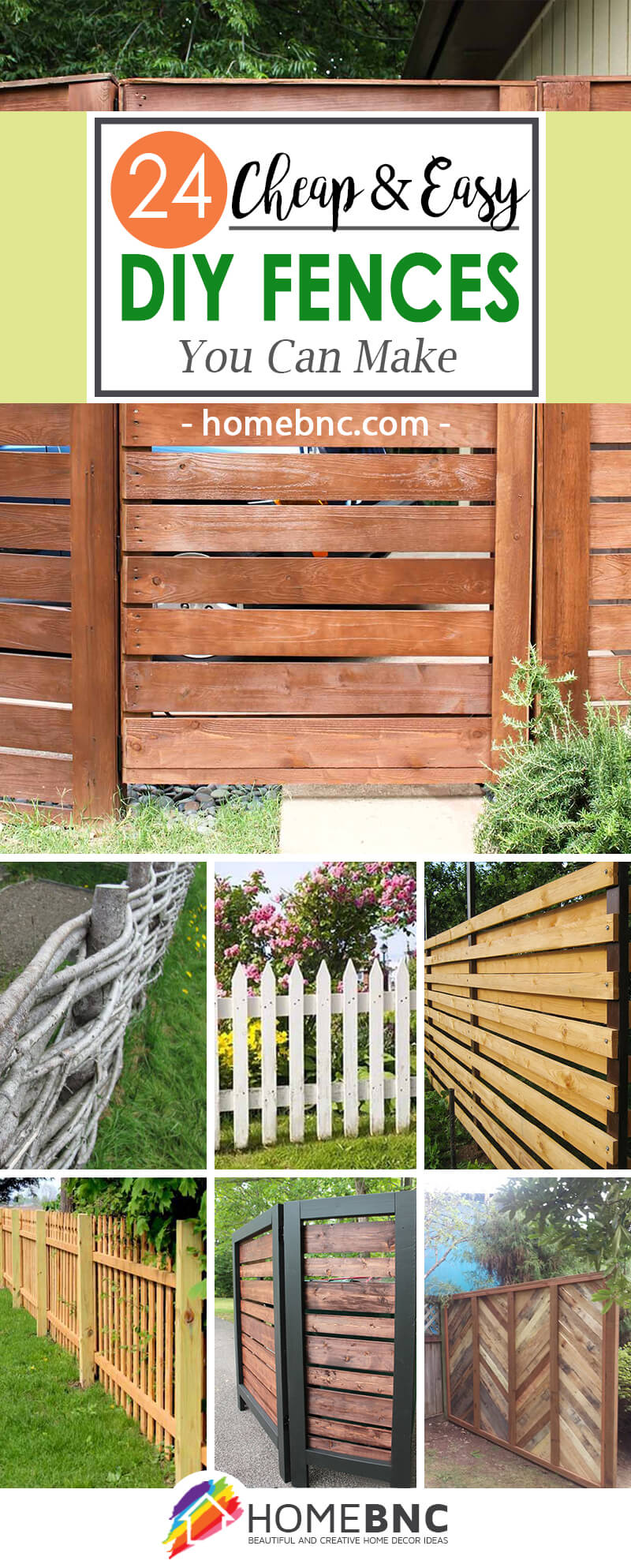 24 Unique Do It Yourself Fences You Can Build This Summer Diy Fence Decor Ideas
