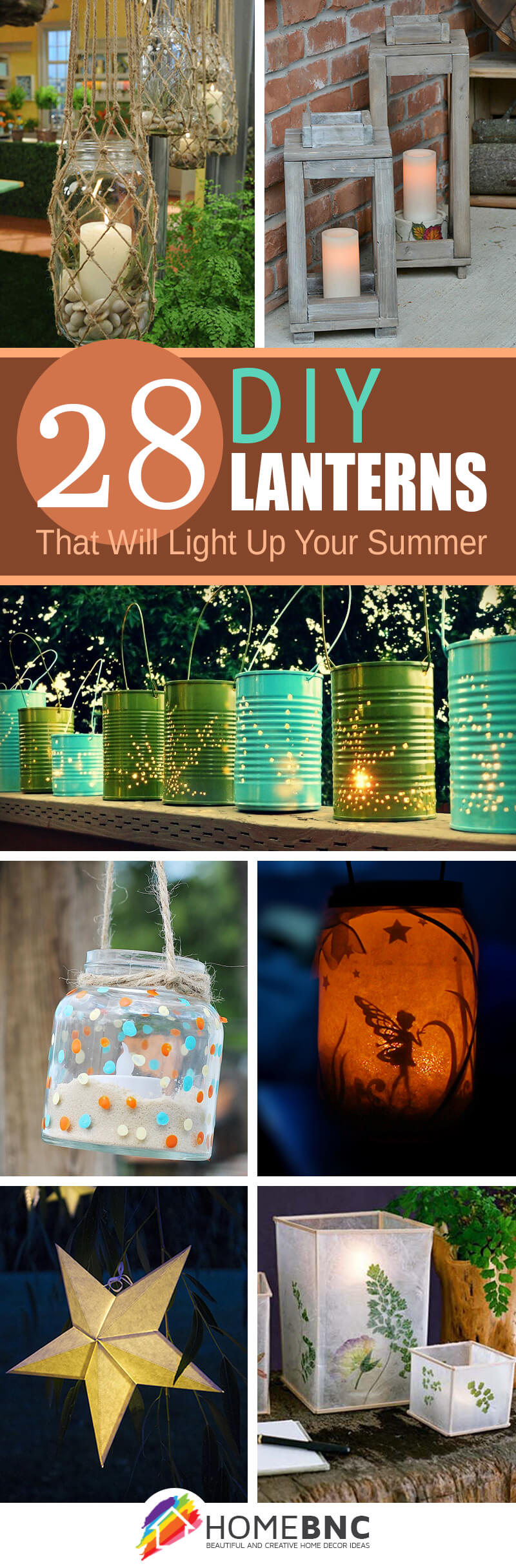 Homemade Garden Lanterns