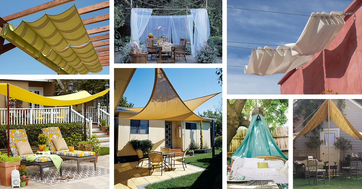 22 Easy Diy Sun Shade Ideas For Your Backyard Or Patio