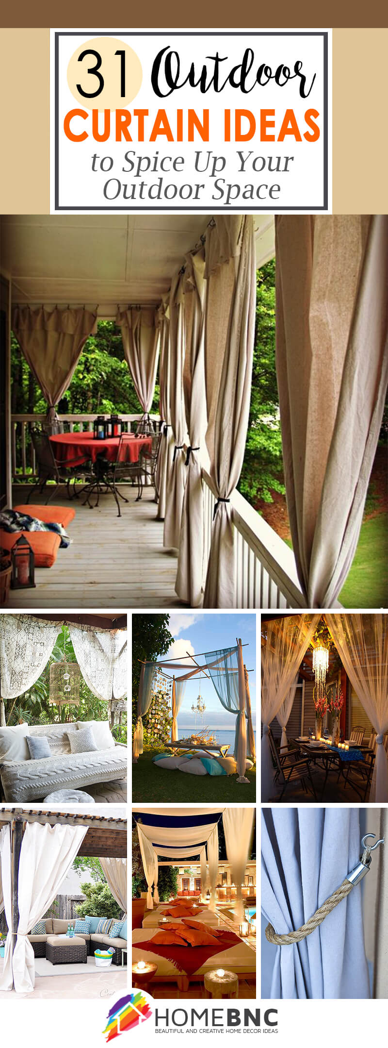 Outdoor Curtain Decorations