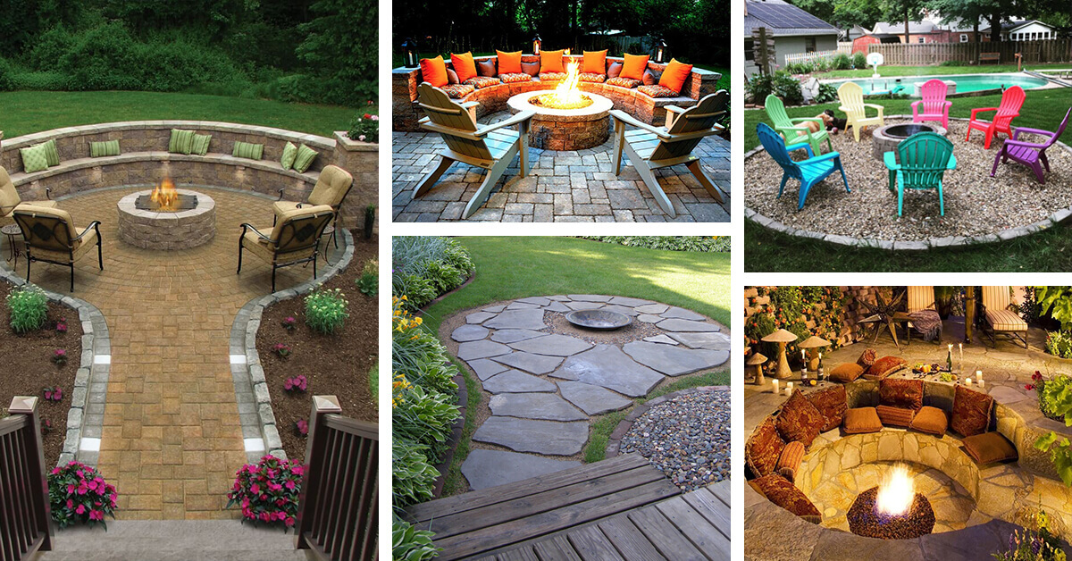 28 Best Round Firepit Area Ideas And Designs For 2021