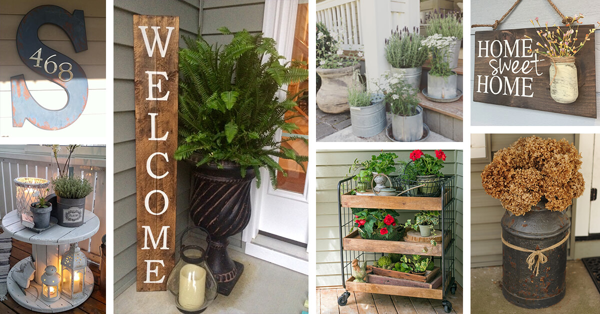 7 Best Rustic Farmhouse Porch Decor Ideas and Designs for 7