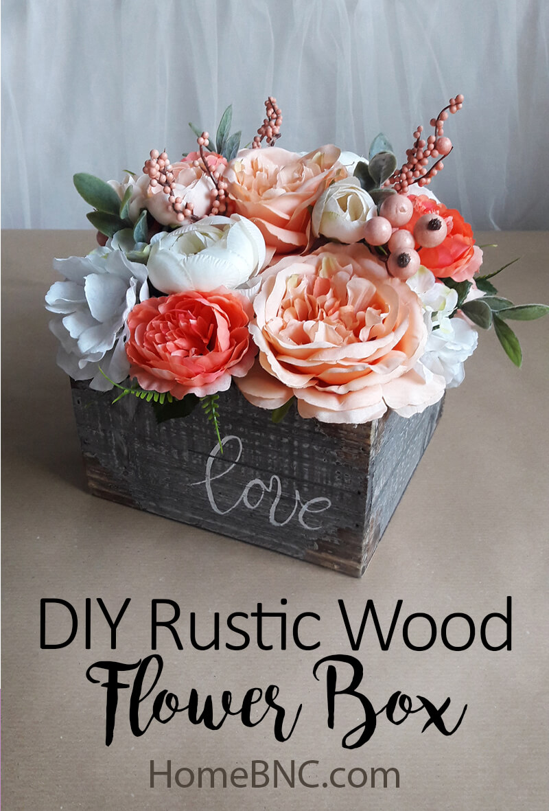 59 Incredibly Simple Rustic Décor Ideas That Can Make Your: DIY Rustic Wood Flower Box