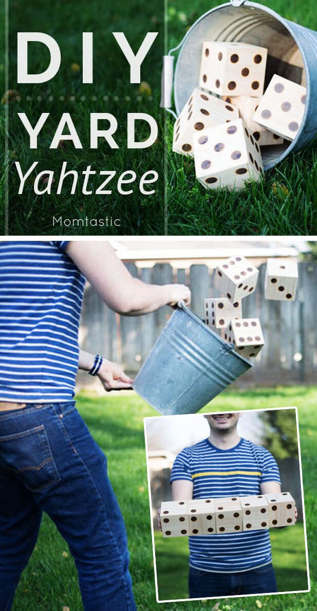 DIY Giant Dice Backyard Yahtzee
