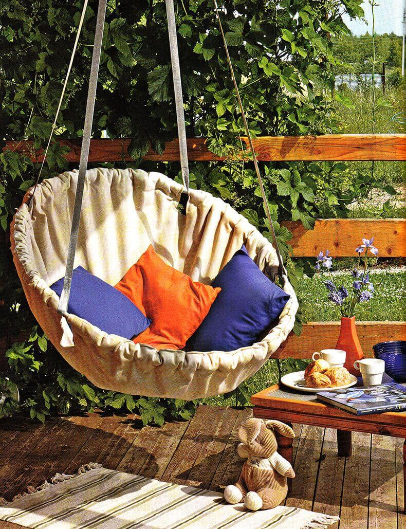 Basket Swing, swings, back porch swing