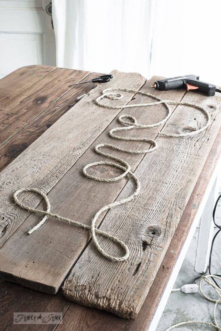 Expressive Words Made from Rope