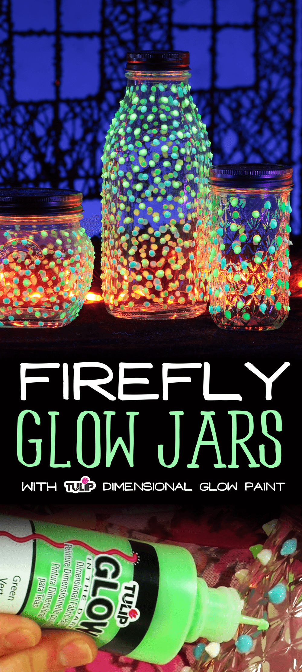 Light up the Night with Firefly Glow Jars