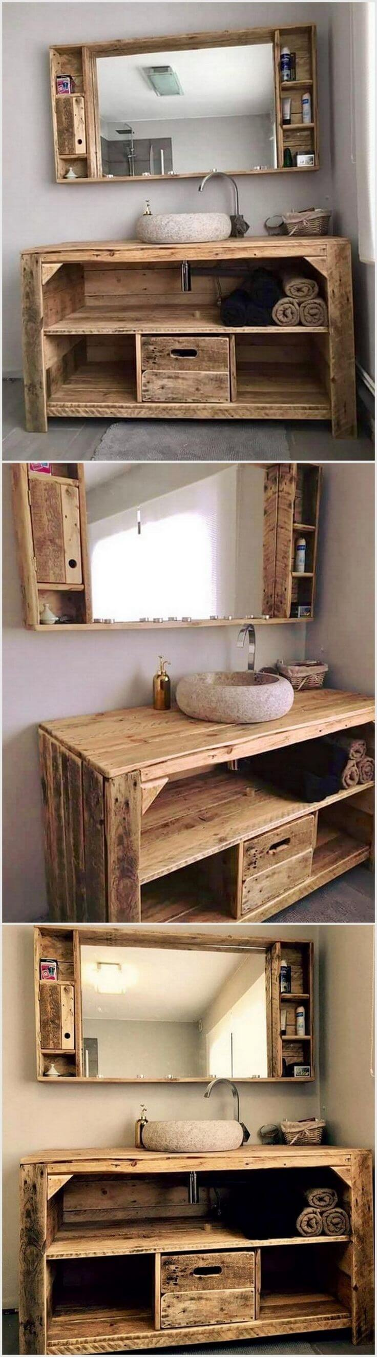 25 best bathroom pallet projects ideas and designs for 2018 for Pallet bathroom ideas