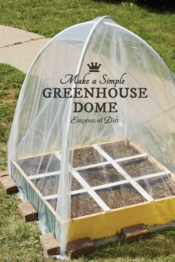 A Dome-Shaped Green House with Small Plots