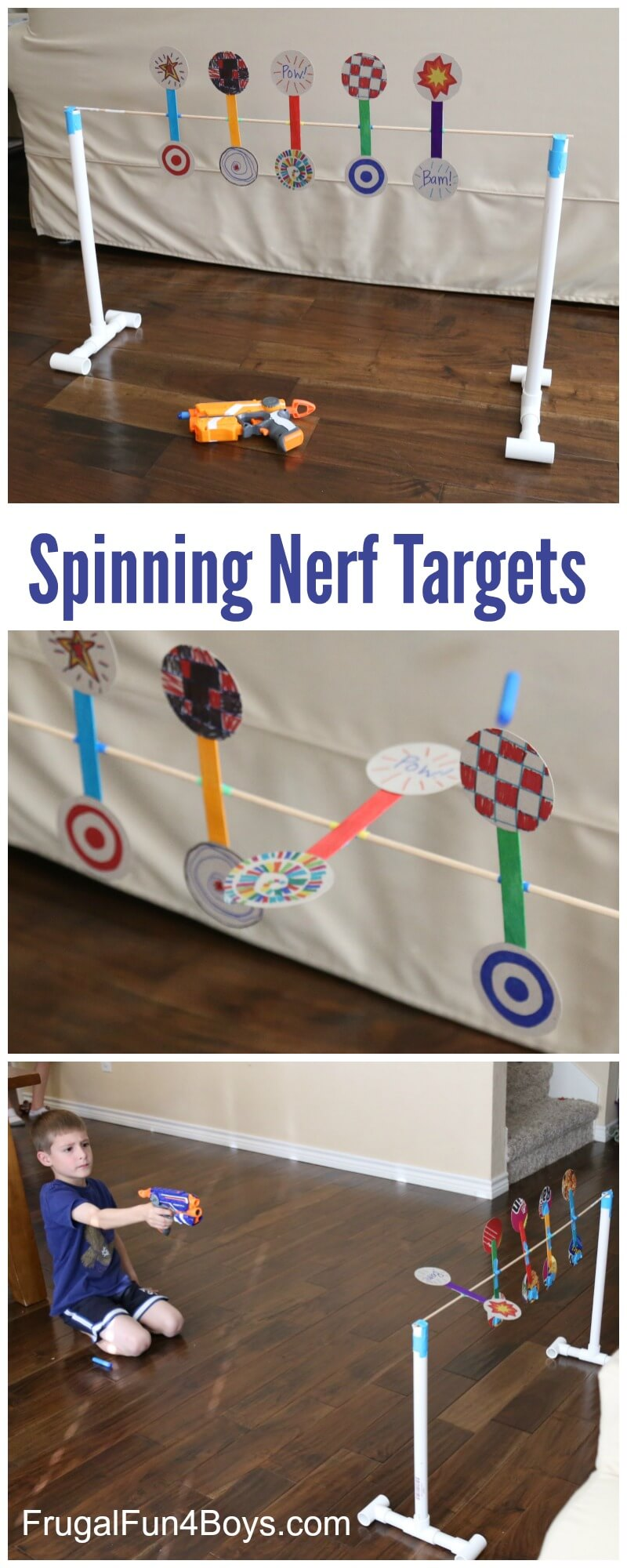 Easy DIY Nerf Shooting Gallery