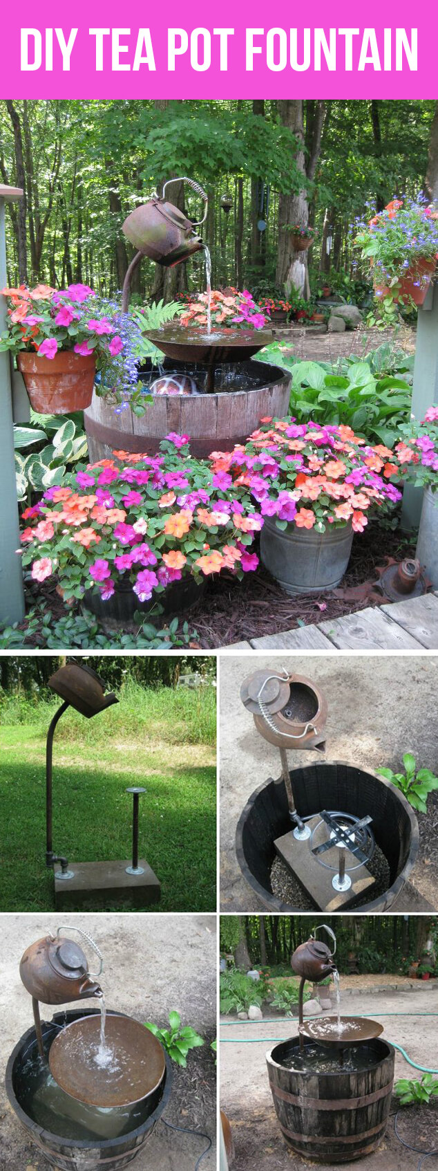 24 best diy water feature ideas and designs for 2017 for Pot water fountain designs