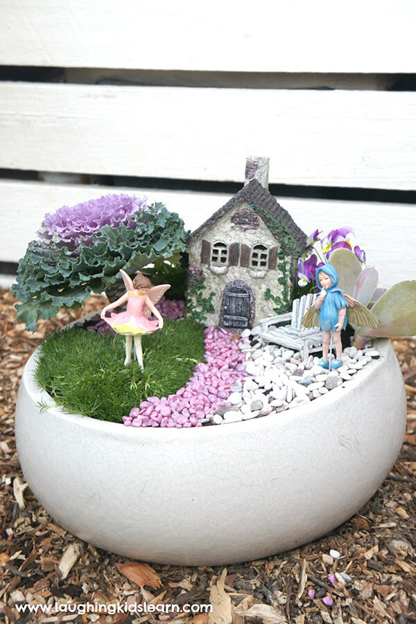 Relaxing and Colorful Fairy Garden