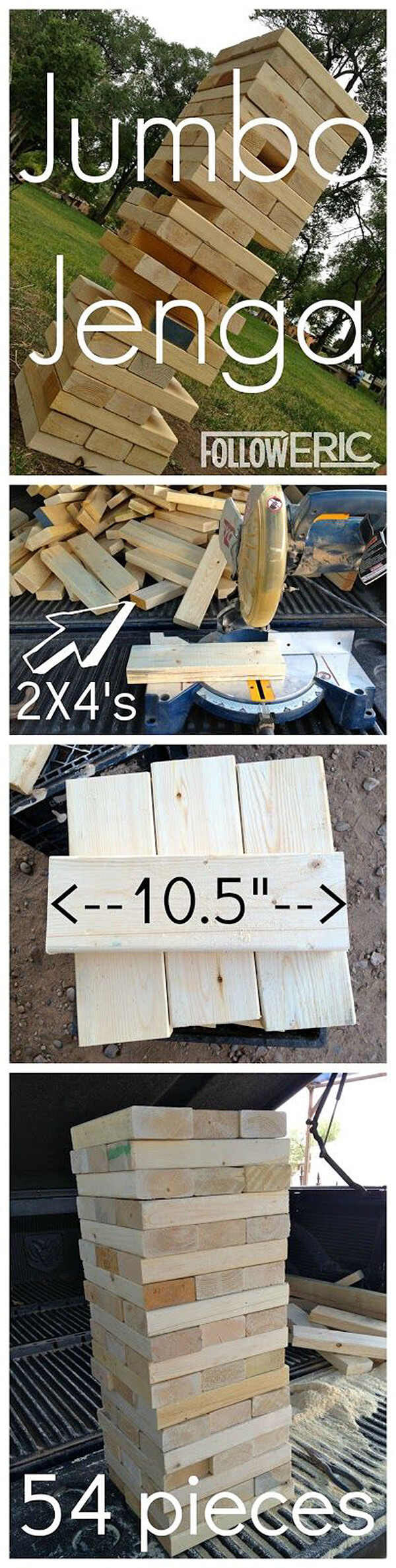 Jumbo DIY 2x4 Jenga Pieces