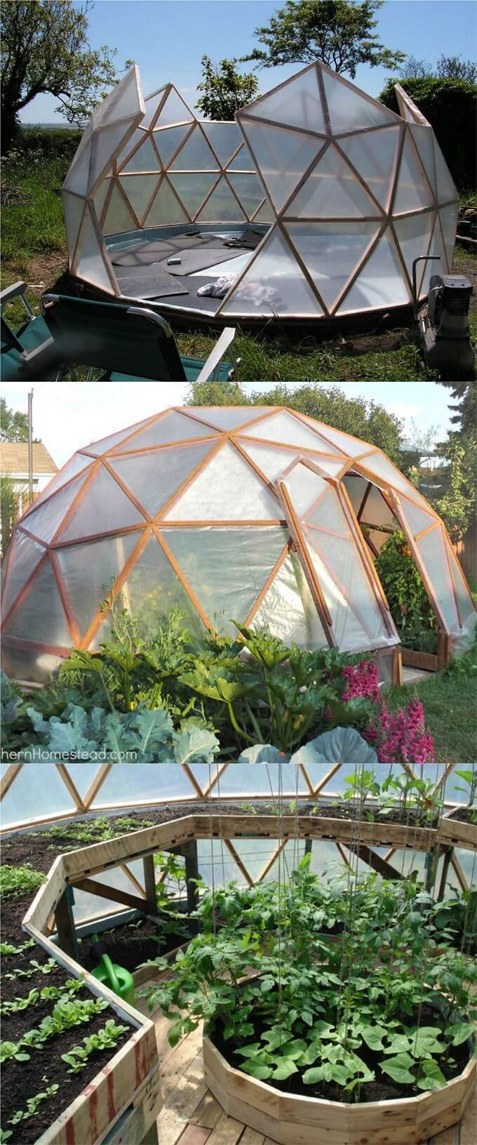 An Igloo-Inspired Walk-in Garden Green House