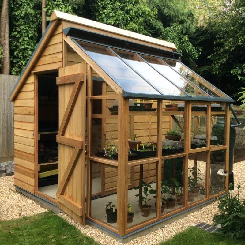 A Greenhouse Storage Shed for your Garden - 27 Best Small Storage Shed Projects (Ideas And Designs) For 2017