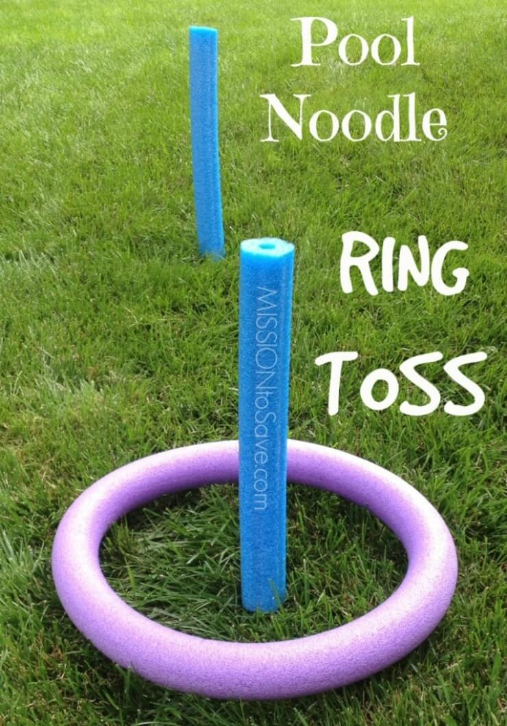 DIY Pool Noodle Ring Toss Set
