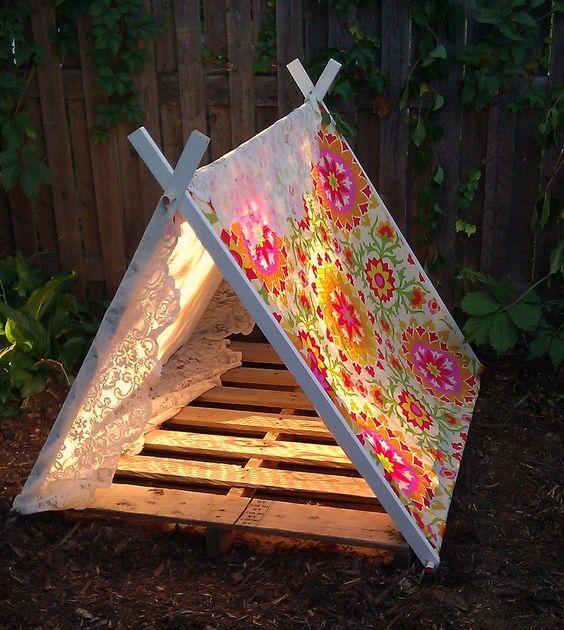 An Illuminated Tent for Nighttime Stargazing